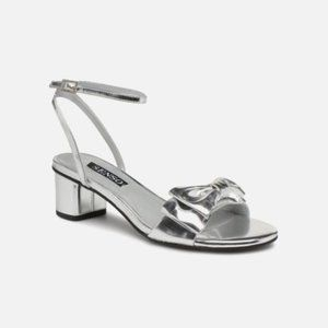 SENSO Jemma II Silver Patent Leather Bow Sandals